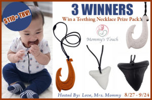 Mommy's Touch Silicone Necklaces Giveaway – Ends 9/24