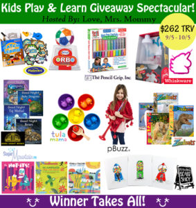 Kids Play and Learn Giveaway Spectacular Giveaway – Ends 10/5
