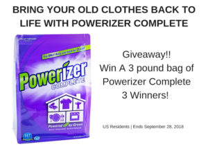 Powerizer Complete Giveaway – Ends 9/28