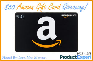 $50 Amazon Gift Card Giveaway – Ends 10/8