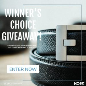 KORE ESSENTIALS WINNER'S  CHOICE BELT + BUCKLE Giveaway – Ends 10/14
