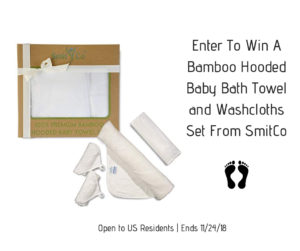 Bamboo Hooded Baby Bath Towel and Washcloths Set Giveaway – Ends 11/24
