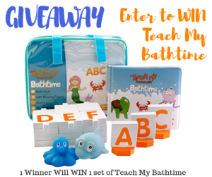 Enter to Win Teach My Bathtime and find Screen Free Gift Options – Ends 11/14