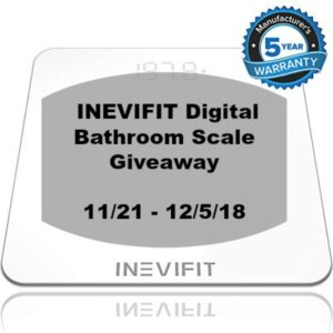 INEVIFIT Bathroom Scale Giveaway – Ends 12/5 #HolidayEssentials