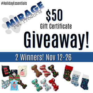 Mirage Pet Products Giveaway – Ends 11/26