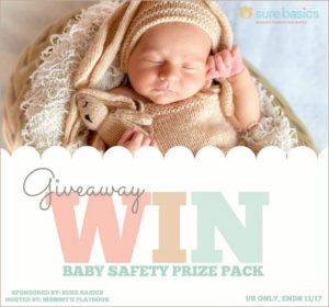 Sure Basics Baby Safety Prize Pack Giveaway – Ends 11/25