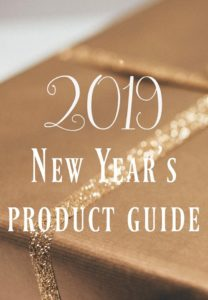 2019 NEW YEAR'S GROUP PRODUCT GUIDE
