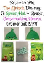 The Grinch Blu-ray, Green Hat + Conversation Hearts Giveaway – #TheGrinch