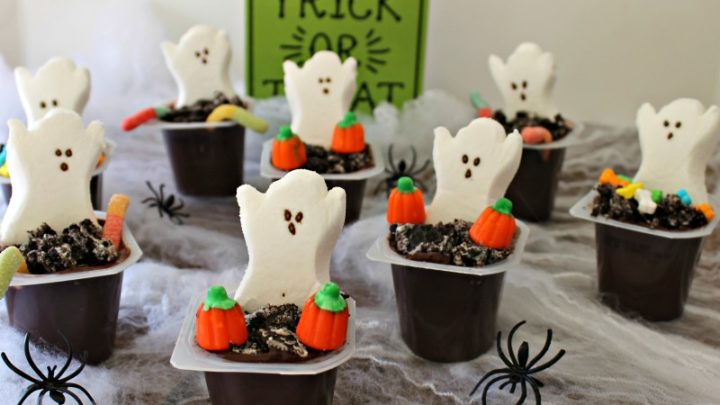 Halloween Pudding Graveyard Cups